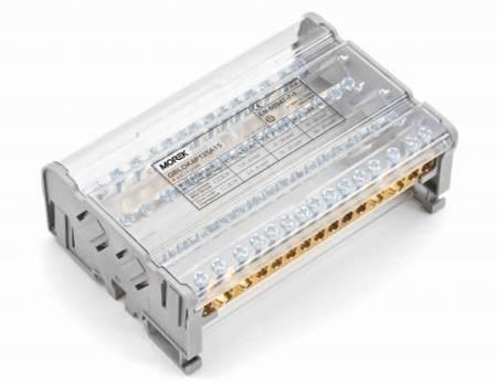 MOREK Blok dystrybucyjno-rozdzielczy MOBLOCK 4-polowy 125A-15, 2x10-35, 11x1,5-6/2x10-25mm²;  MAB4126A18